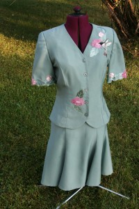 cutwork and applique outfit