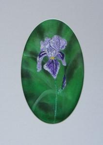 free motion embroidery  iris