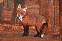 Enlarged portion of Ode to Vulpes vulpes