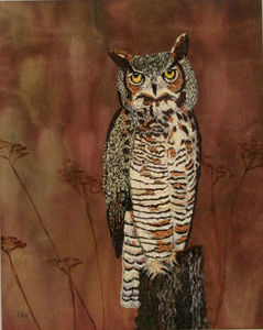 Great Horned Owl (flipped horizontally)
