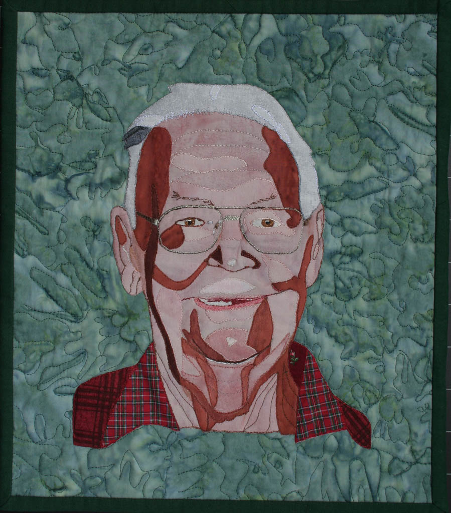 Dad portrait-wall quilt