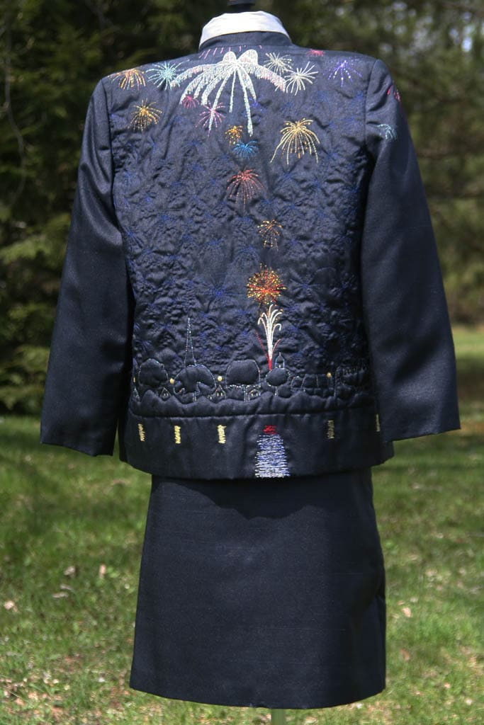 Fireworks back -wearable art