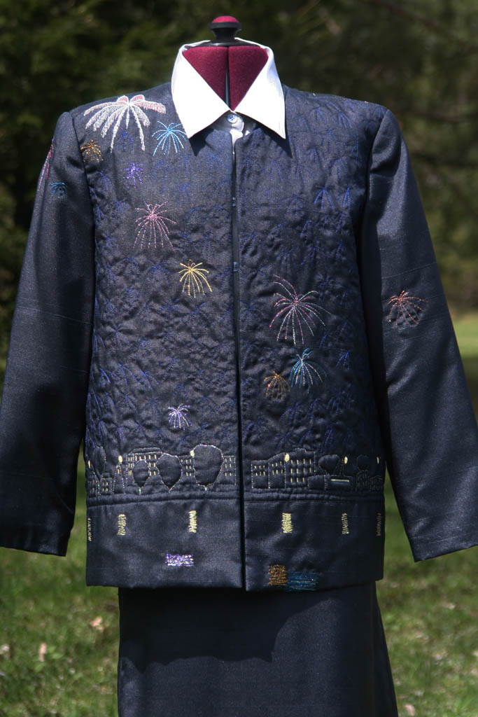 Fireworks front -wearable art