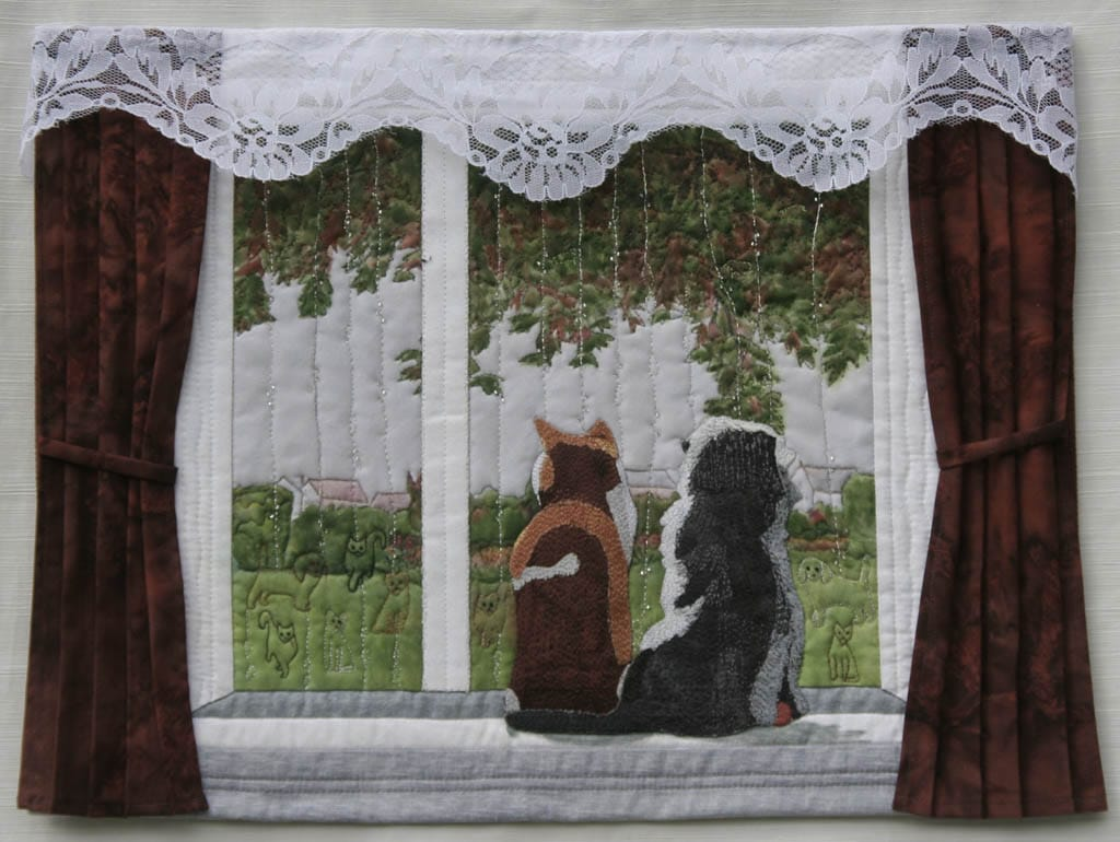Raining Cats and Dogs -wall quilt