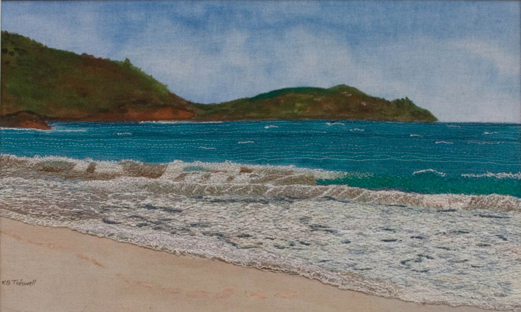 Splendour of the Caribbean-thread painting
