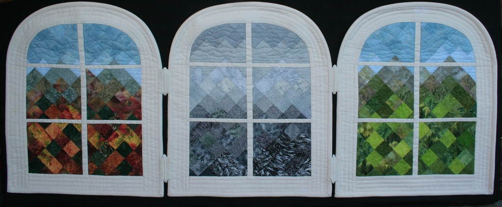 Through The Glass -wall quilt