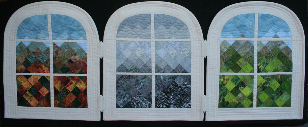 Through the Glass- wall quilt