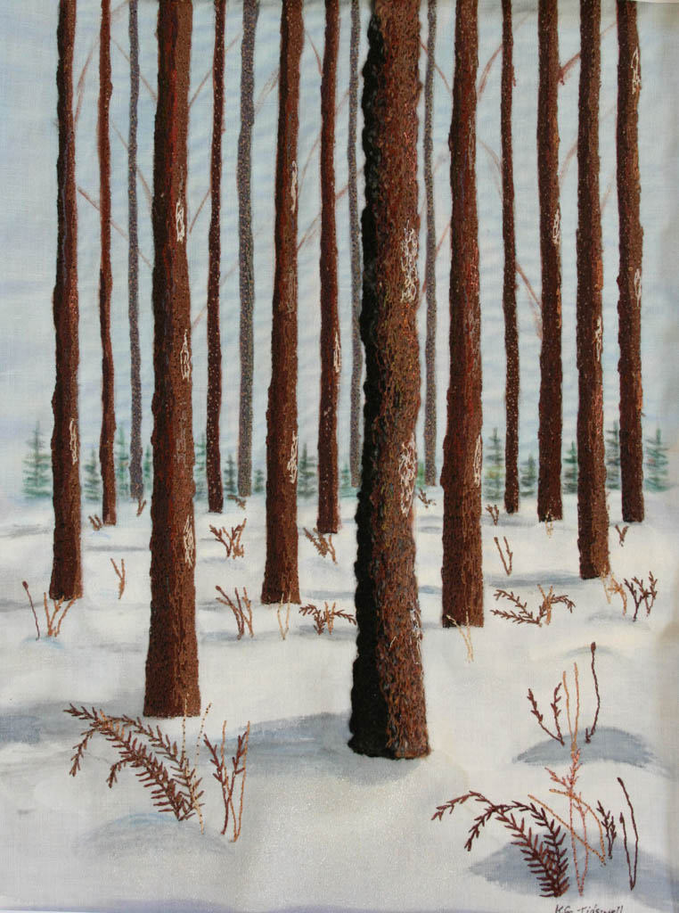Winter 2-thread painting