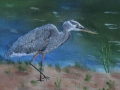 Great Blue Heron -thread  applique